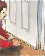 Attach a new bristle sweep to the bottom of the door. Here\u0027s an option You may prefer to attach a new door bottom with an integral sweep on the inside and ... & Home Improvement and Repair Tips